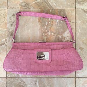 Charles David Pink Handbag Clutch